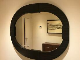 Oak veneer wall mirror