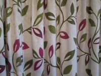 Extra wide hand made curtains fully lined with blackout lining, good condition
