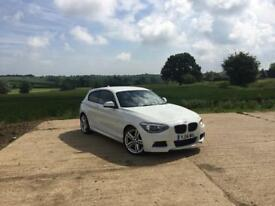 BMW 1 Series M Sport 2014 - Alpine White. Perfect Condition. Full leather