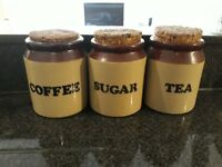 Set of 3 coffee containers