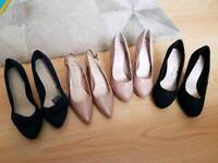 four pairs of brand new shoes (wide fit