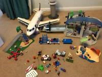 Large playmobil bundle airport etc.