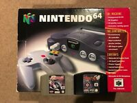 N64 boxed Nintendo 64 console and games