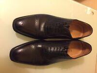 Hawes & Curtis Men's Black Leather Shoe