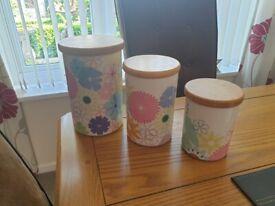 Portmeirion Crazy Daisy Canisters or Lidded Jars
