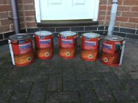 4x5 litre tins of fence paint golden brown £9 each can deliver if local call 07812980350