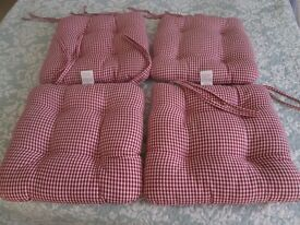 Set of 4 Cushion Pads (with Ties) - new unused gift