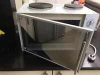 Russell Hobbs Mini Kitchen with Convection Oven and 2 Hot Plates 13824 -10, 3000 W