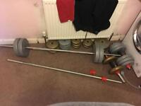 York & pure fitness barbells free weights dumbells