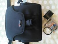 Lowepro camera bag with accessaries