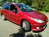 PEUGEOT 206 SW ESTATE 1.4 HDI DIESEL £30 TAX 12 MONTHS TEST