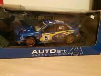 Limavady 1:18 Diecast Models. Subaru WRC, Fiesta WRC, Otto Martini Escort, Otto MK3 RS Focus. .