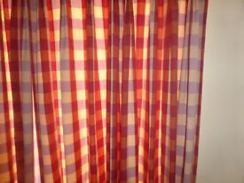 Curtains - Check pattern for sale £20.00 Fully lined