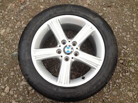 5x120 225/50/17 Original BMW Alloy Wheels with New tyres, Like new