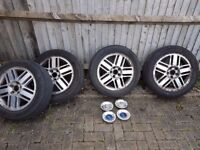 Ford Focus wheels and tyres - 205/55ZR16 - Wheels need refurbishing, but good tyres