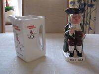 1 Wade Johnnie Walker Scotch Whisky water jug and 1 Wade Toby jug