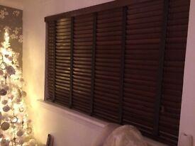 Like new stylish wooden blinds