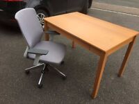 Computer Desk & Adjustable Office Chair