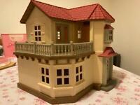 Sylvanian family mansion, treehouse, nursery, car, schoolbus