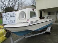 Seahog Shortie fishing boat with outboard and trailor