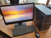 """Hp pavilion 500-242ea desktop PC with 24""""monitor logitech keyboard etc please read"""