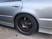 5x114.3 17 enkei alloy wheels staggered swap 18