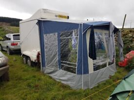 Universal, free standing Cadet VENTURA Camping - caravan awning.
