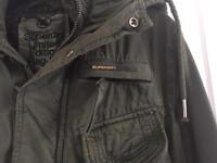 Men's superdry military green jacket medium