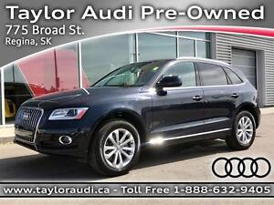 2015 Audi Q5 2.0T Progressiv PST PAID, LOCAL TRADE, PANORAMIC...