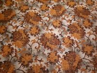 Floral carpet (used) 3mx7m with fireplace + bay window bit cut out.
