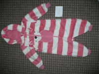 Next warm Hooded Onesie/All-in-One/Pramsuit/Sleepsuit for Girl 1.5-2 years/18-24mths.Excellent cond!