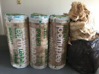 Earthwool loft insulation 3rolls x.1 opened