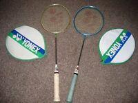Yonex badminton rackets x 2