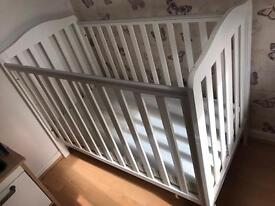 Mothercare Darlington cot and luxury mattress