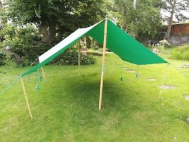 12'x10' Canvas Dining Shelters - Heavy duty gazeebo Scout, Guide, Boys Brigade - 2 Available