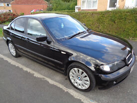 2003 e46 BMW 3 series 320d diesel Black 100k miles - long mot - satnav, tv, mp3, usb, microsd