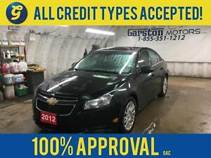 2012 Chevrolet Cruze ECO*ALLOYS*ON STAR PHONE CONNECT*REMOTE STA