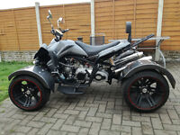 2016 300CC CARBON FIBRE, ROAD LEGAL QUAD BIKE ASSEMBLED IN UK , FULLY AUTOMATIC.