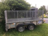 Ifor Williams trailer with full mesh cage