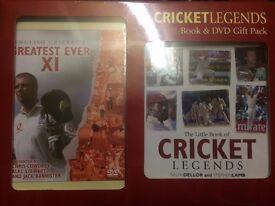 CRICKET LEGENDS Book & DVD GIFT PACK BRAND NEW