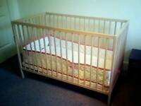 IKEA Baby Cot with mattress and beddings