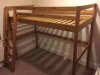 Ikea Vradal Solid Wood Highsleeper Loft Bed 170cm Tall Very Good Condition