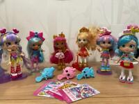 Shopkins Shoppie dolls x6, toys