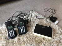 Wireless house phones and rooter