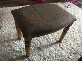 Harris tweed covered pine stool
