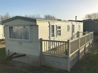 CHEAP STATIC CARAVAN FOR SALE IN LINCOLNSHIRE EAST COAST, SKEGNESS PRIVATE SALE WITH DECKING
