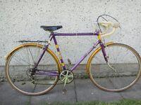 Coventry eagle Autocrat de-luxe racer bike 5 gears 27 inch wheels 23 inch frame vintage retro bike