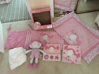 Red kite princess Pollyanna cot bed set and doll. Fantastic condition.
