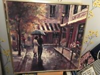 2 Gorgeous pictures of bistros, great for kitchen or diner. .