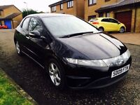 2009 Honda Civic Se I-Vtec 1.4 petrol Black , Full Service History , only 25.200 , £ 3500